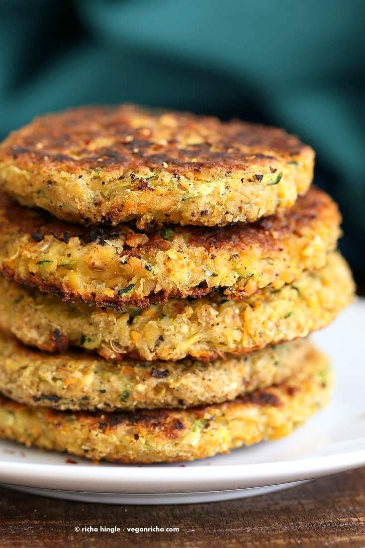 Vegan Zucchini Recipes  Carrot Zucchini Chickpea Fritters Vegan Recipe Vegan Richa