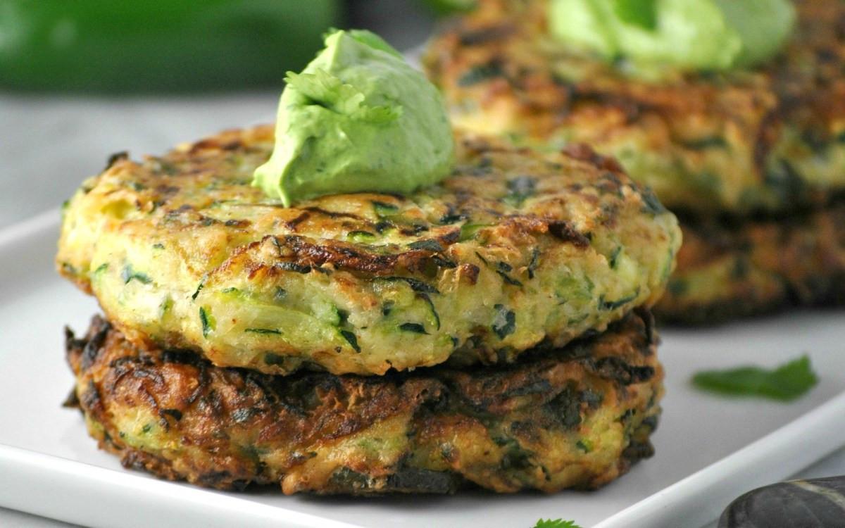 Vegan Zucchini Recipes  Jalapeño Zucchini Fritters [Vegan Gluten Free] e