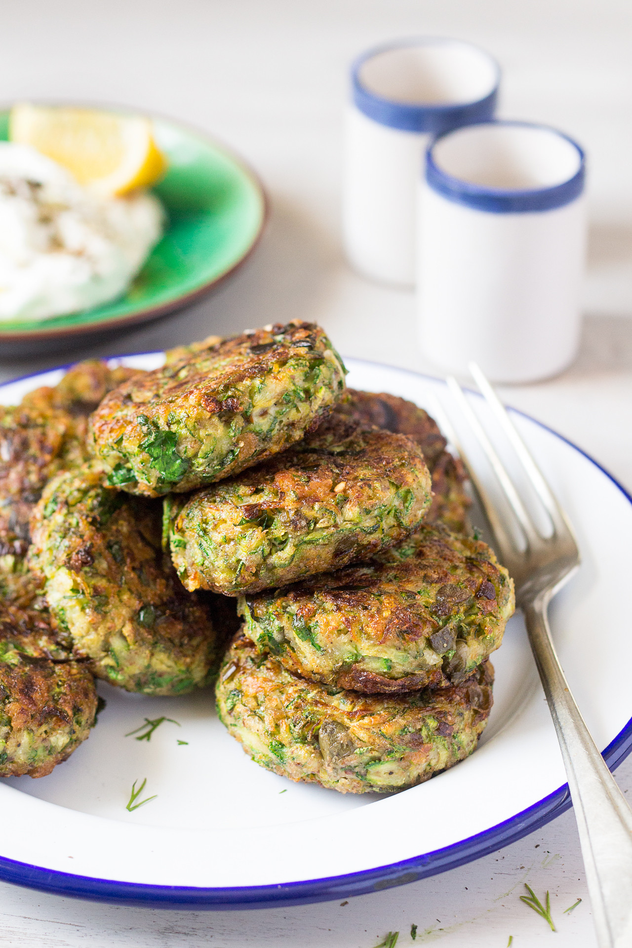 Vegan Zucchini Recipes  Vegan Greek zucchini fritters Lazy Cat Kitchen