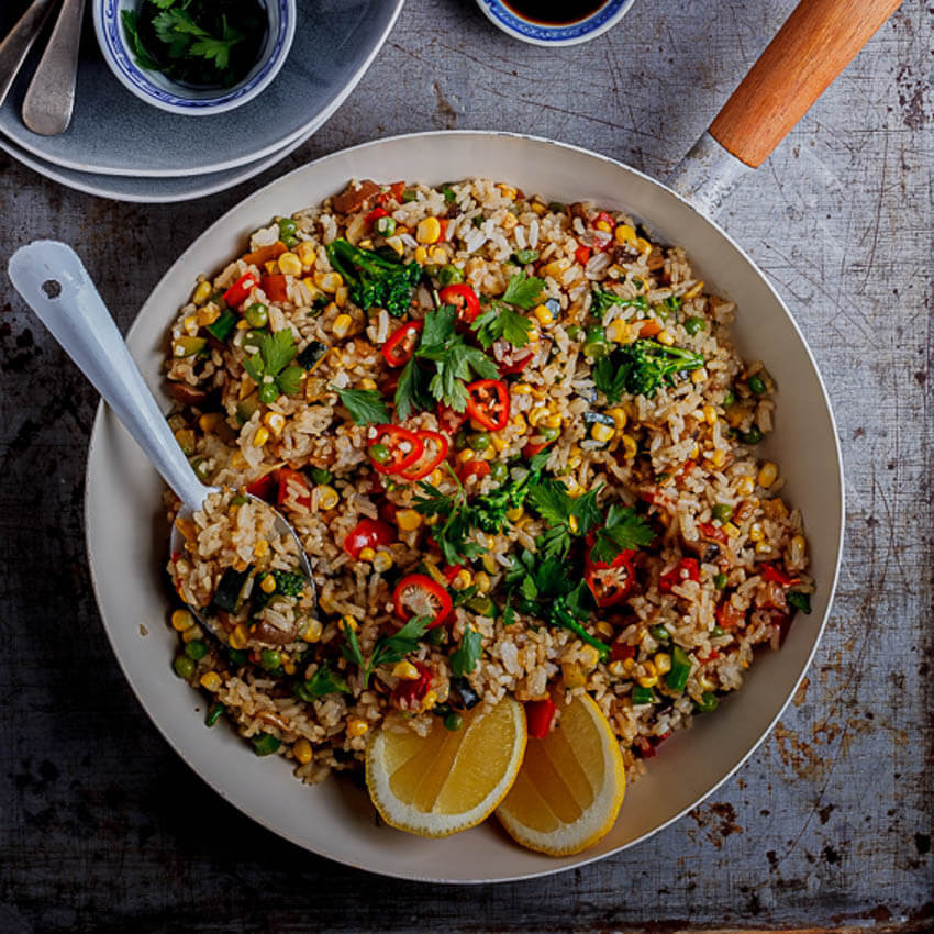 Vegetable Fried Rice  Quick and easy ve able fried rice Simply Delicious