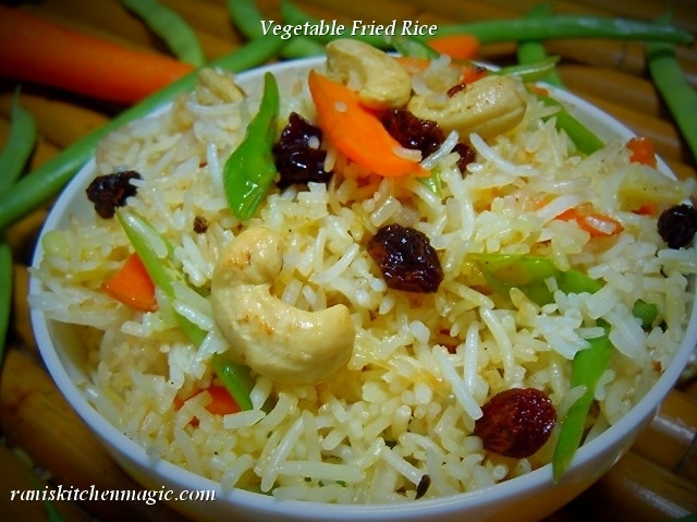 Vegetable Fried Rice  Simple Ve able Fried Rice Kerala Style