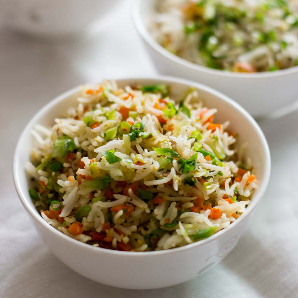 Vegetable Fried Rice  ve able fried rice recipe Easy veg fried rice indian