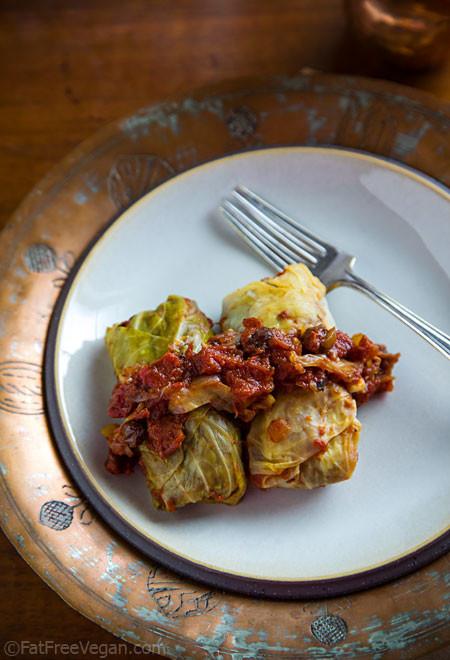 Vegetarian Cabbage Rolls  Vegan Cabbage Rolls