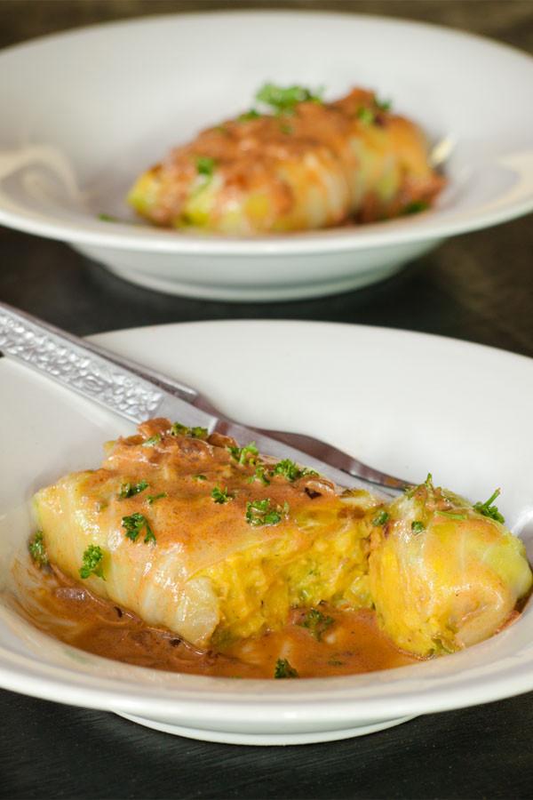 Vegetarian Cabbage Rolls  Ve arian Stuffed Cabbage Rolls Recipe Healthier German
