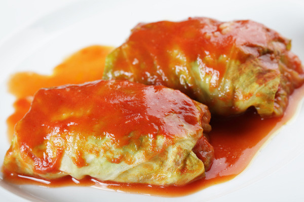 Vegetarian Cabbage Rolls  Meatless Monday Ve able stuffed cabbage rolls