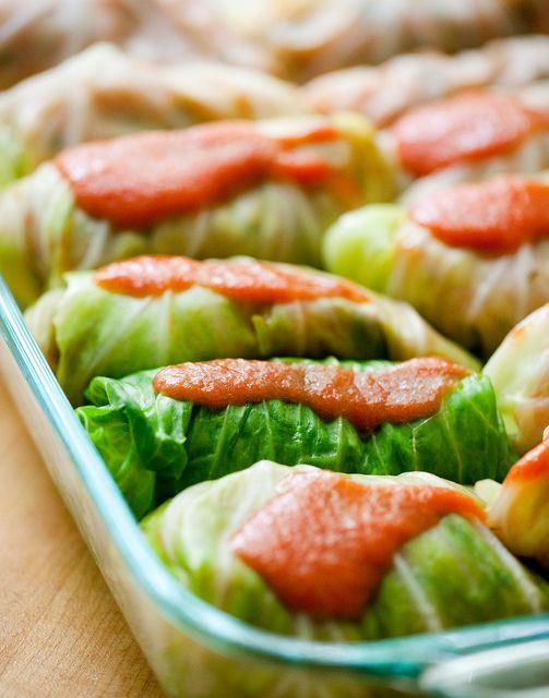 Vegetarian Cabbage Rolls  Ve arian Cabbage Rolls Recipe — Dishmaps