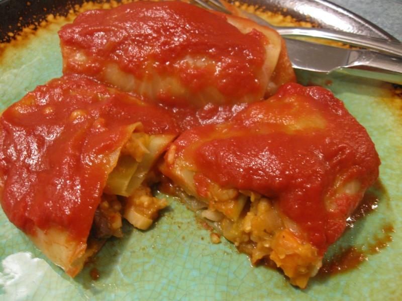 Vegetarian Cabbage Rolls  VEGETARIAN CABBAGE ROLLS Gluten Free Delightfully Delicious