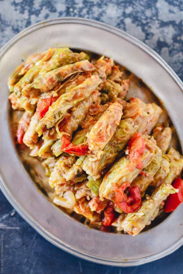Vegetarian Cabbage Rolls  Ve arian Stuffed Cabbage Rolls