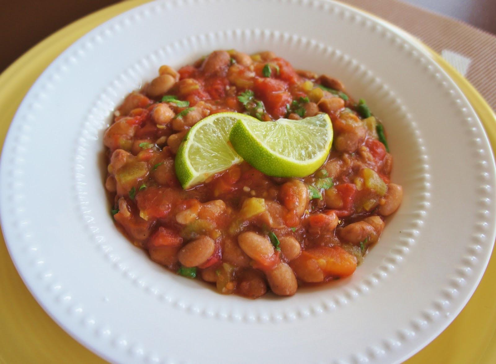 "Vegetarian Crockpot Recipes  Recipe for Slow Cooker Vegan Fiesta ""Baked"" Beans 365"