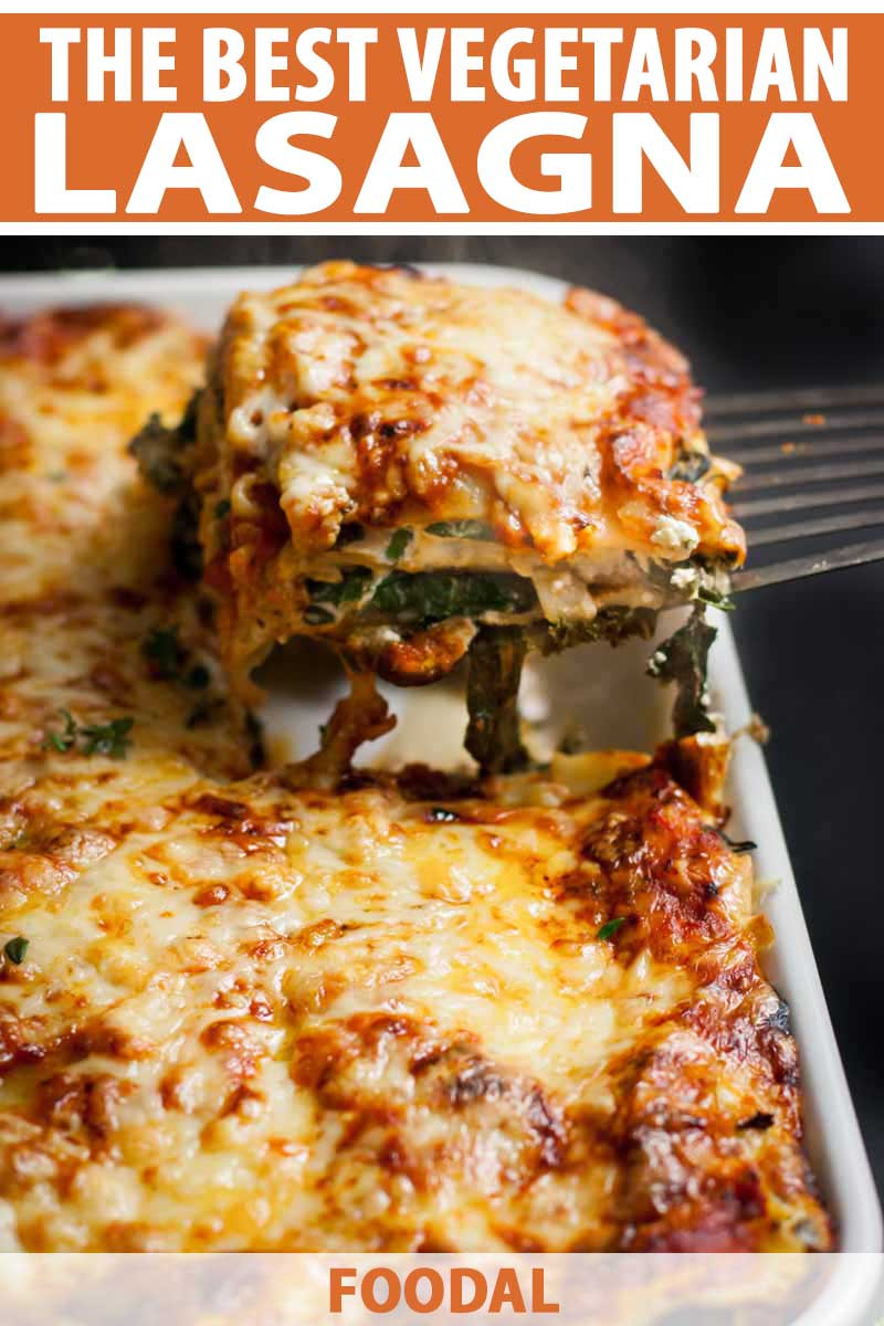 Vegetarian Lasagna Recipe  ve arian lasagna with ricotta cheese and spinach filling