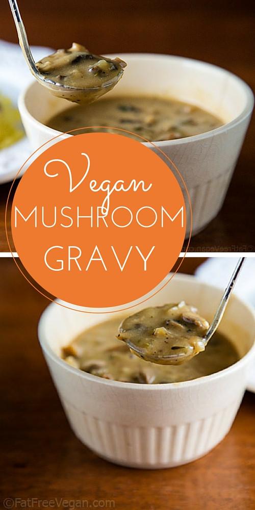 Vegetarian Mushroom Gravy  Vegan Mushroom Gravy Recipe