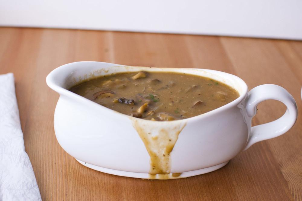 Vegetarian Mushroom Gravy  Vegan Mushroom Gravy gluten free oil free and delicious