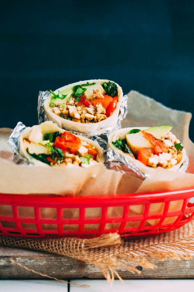 Vegetarian Protein Breakfast  Vegan Breakfast Burrito With Scrambled Tofu