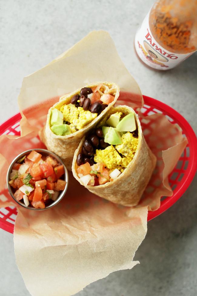 Vegetarian Protein Breakfast  Protein packed vegan breakfast burrito Nutritional Foo