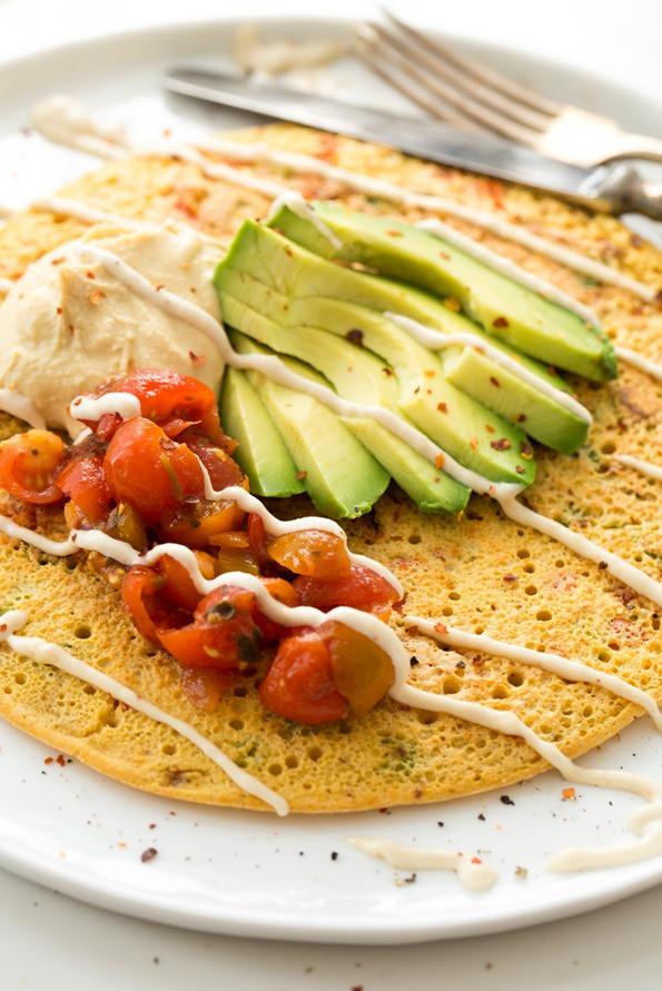 Vegetarian Protein Breakfast  Jumbo Chickpea Pancake – A High Protein Filling Vegan