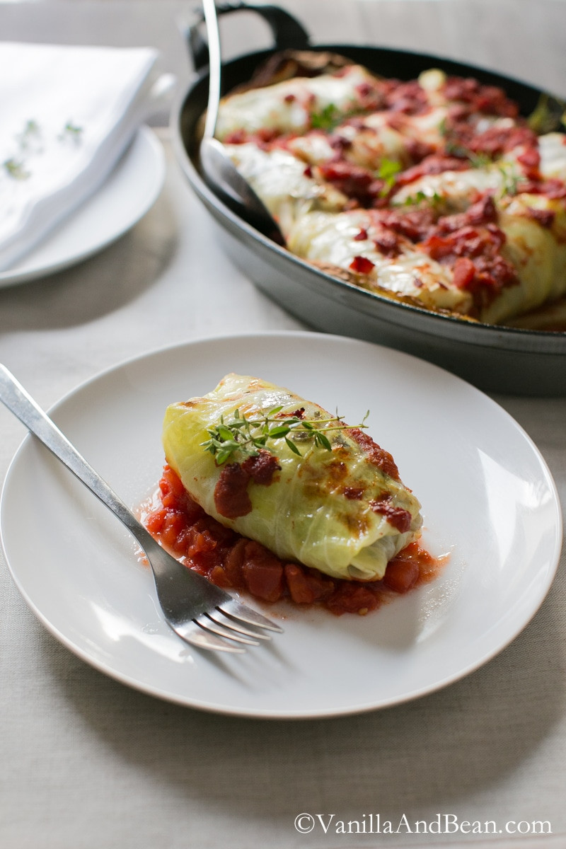 Vegetarian Stuffed Cabbage  ve arian stuffed cabbage leaves