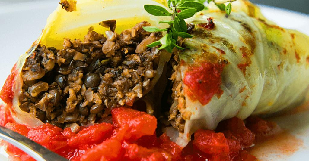 Vegetarian Stuffed Cabbage  Vegan Mushroom Stuffed Cabbage Rolls Very Vegan Recipes