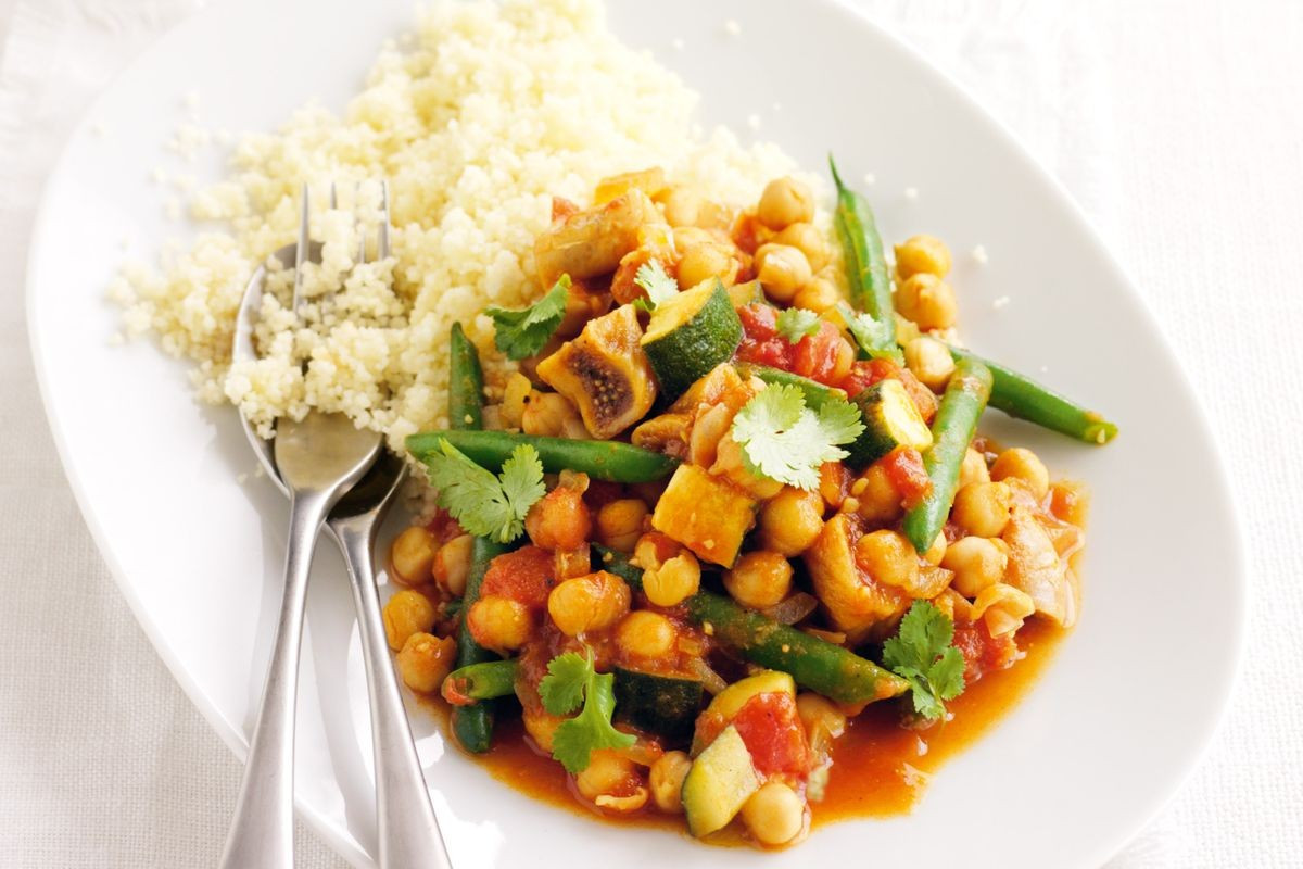 Veggie Dinner Recipes  Chickpea tagine with figs Recipes delicious