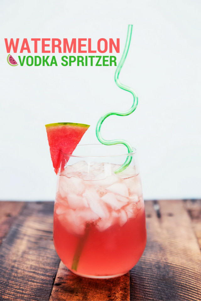 Vodka Watermelon Drinks  Watermelon Vodka Spritzer Drink Recipe