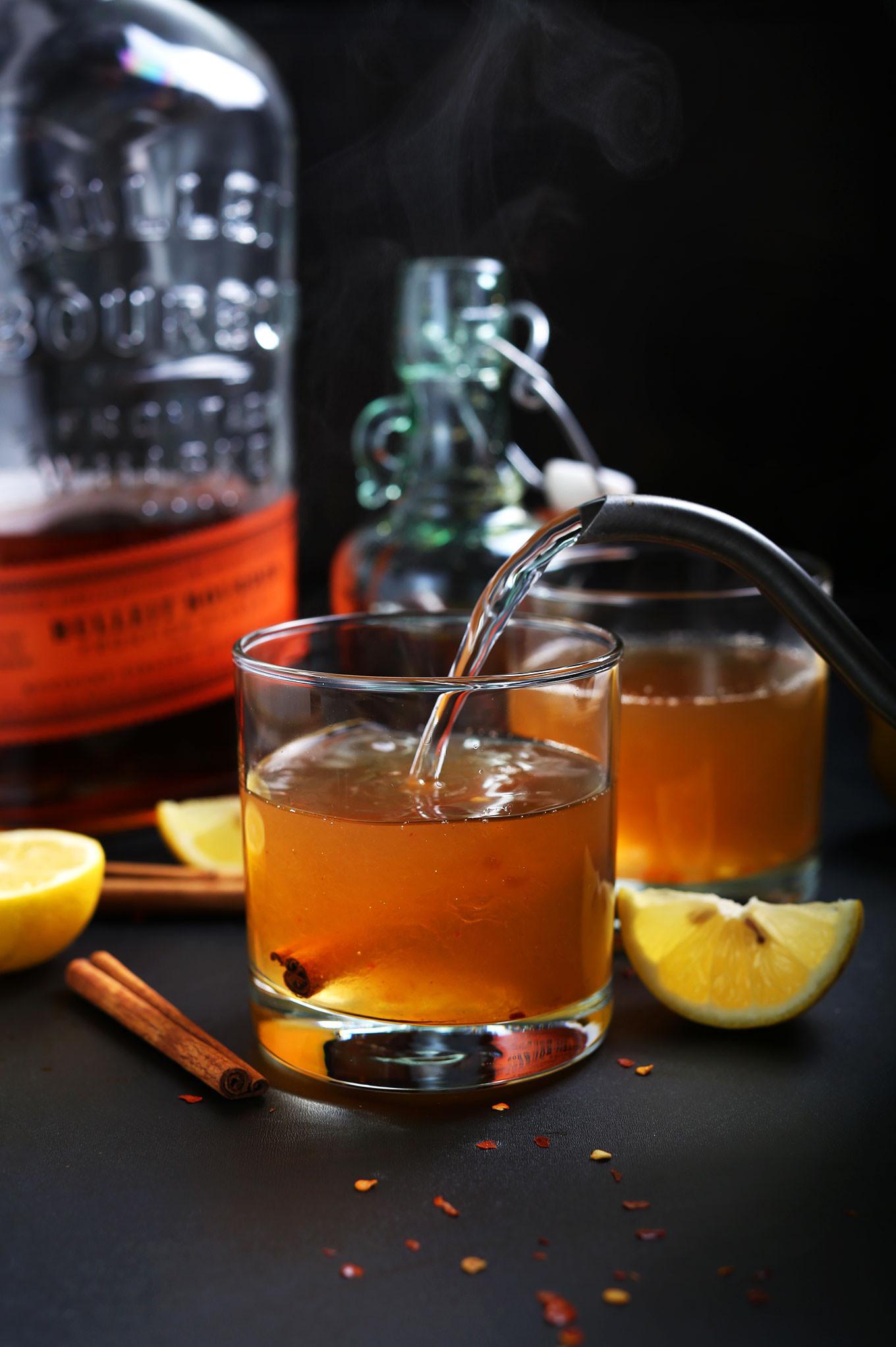 Warm Whiskey Drinks  Cinnamon Bourbon Hot Toddy