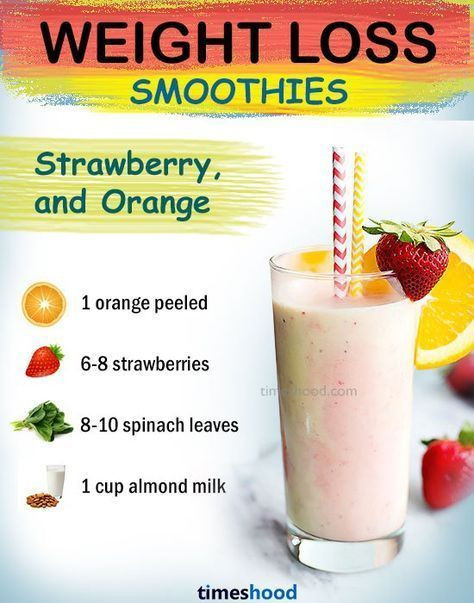 Weight Loss Smoothie Recipes  Strawberry orange green smoothie for weight loss fat