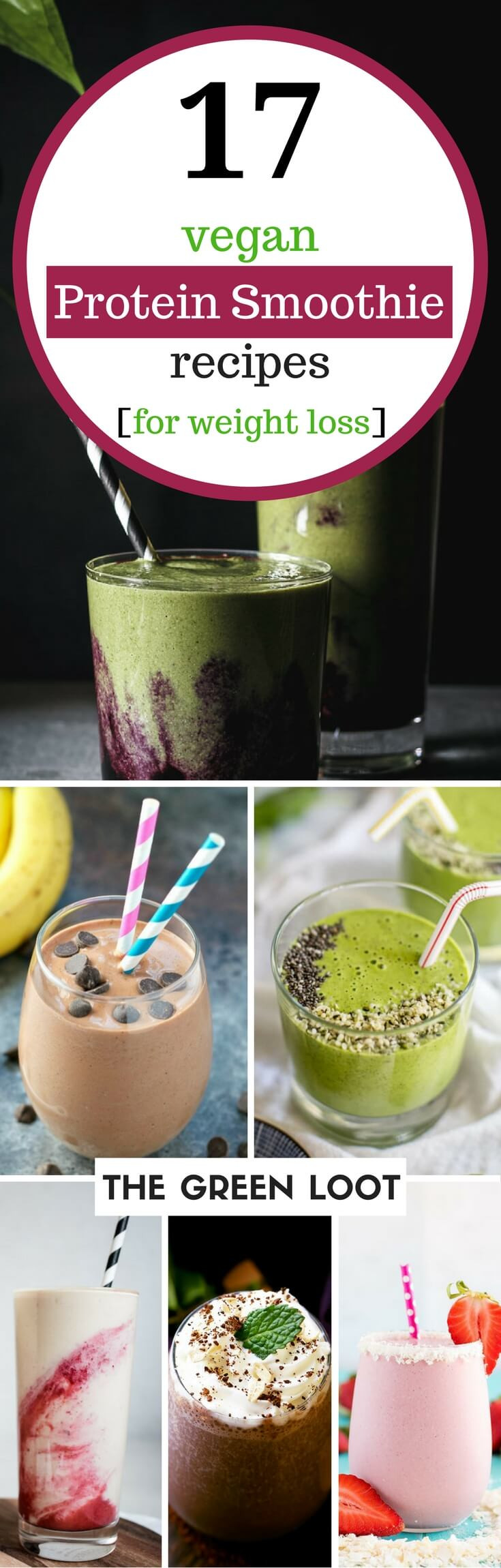 Weight Loss Smoothie Recipes  17 Tasty Vegan Protein Smoothie Recipes for Weight Loss