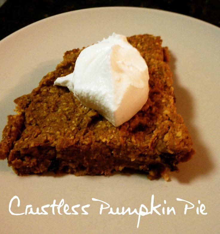 Weight Watchers Crustless Pumpkin Pie  HMR Crustless Pumpkin Pie
