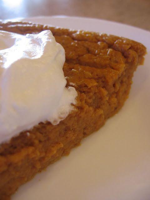 Weight Watchers Crustless Pumpkin Pie  Low cal Crustless Pumpkin Pie 1 ww point per slice