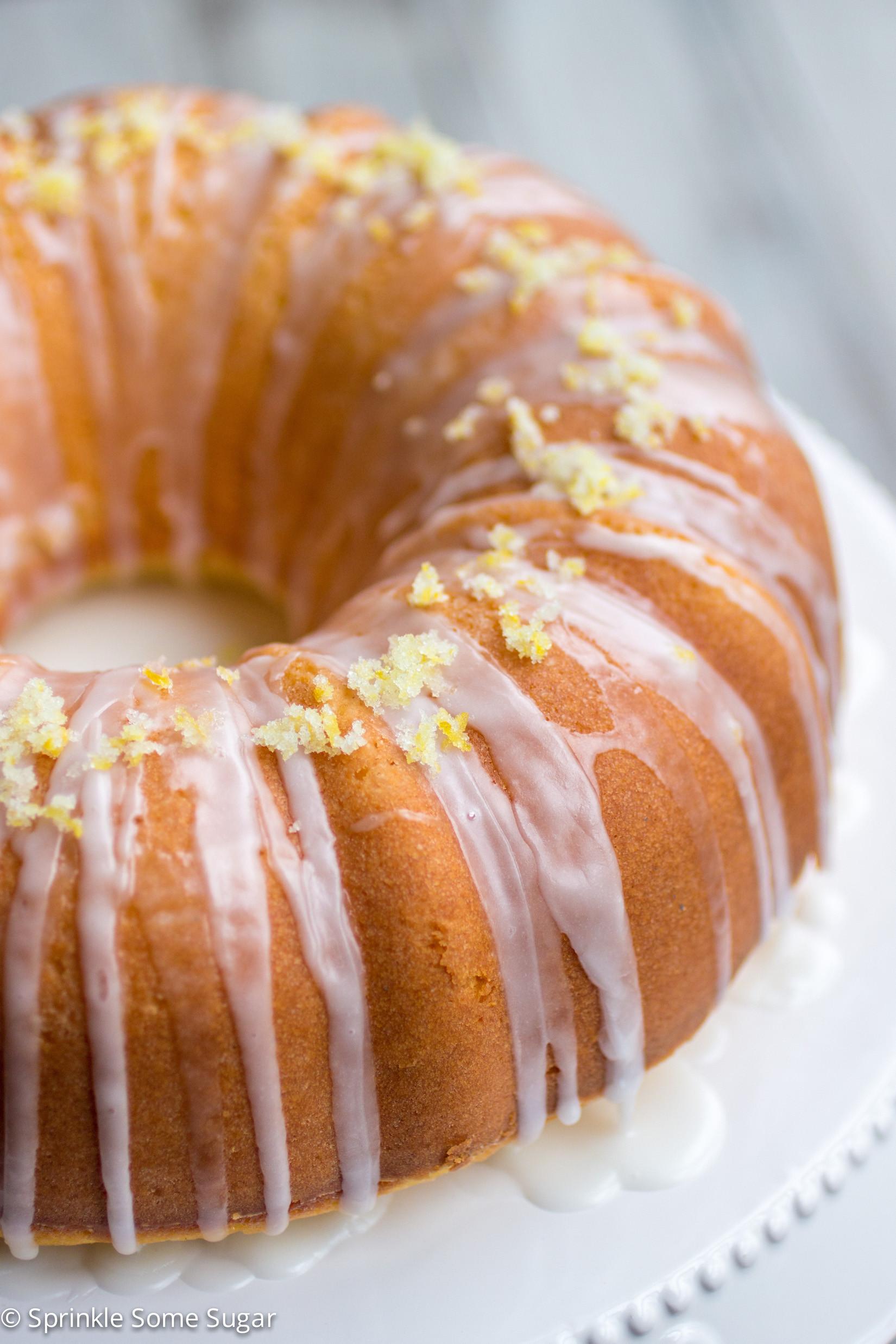 What Is A Bundt Cake  Super Lemon Bundt Cake Sprinkle Some Sugar