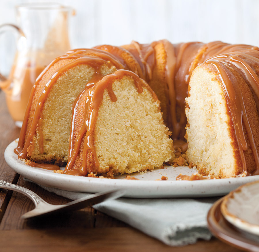 What Is A Bundt Cake  Vanilla Bundt Cake with Caramel Sauce Taste of the South