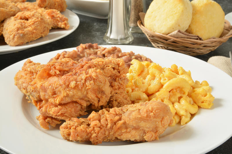 What Meat Goes With Mac And Cheese For Dinner  Fried chicken dinner stock image Image of lunch picnic