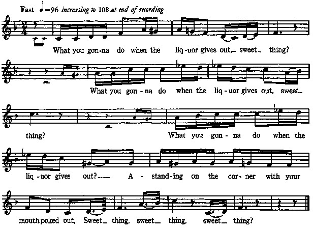 What You Gonna Do With That Dessert Lyrics  Our Singing Country online book John Lomax page 0398