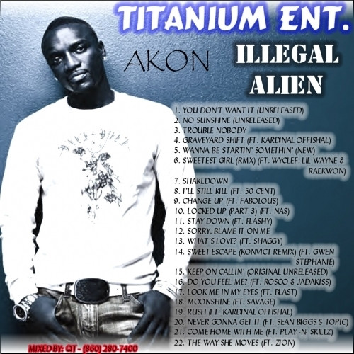 What You Gonna Do With That Dessert Lyrics  Akon Illegal Alien Hosted by DJ Qt Mixtape Stream