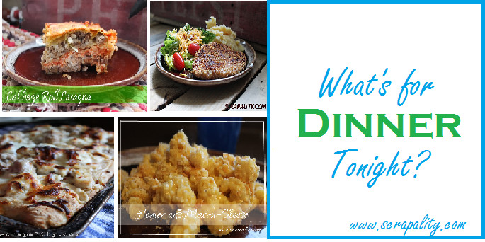 Whats For Dinner Tonight  Scrapality – Frugal creativity