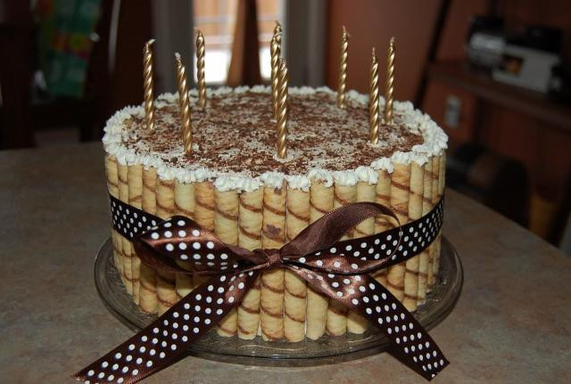When Did Adding Candles To The Birthday Cake Originated  Coffee and chocolate flavored birthday cake with golden