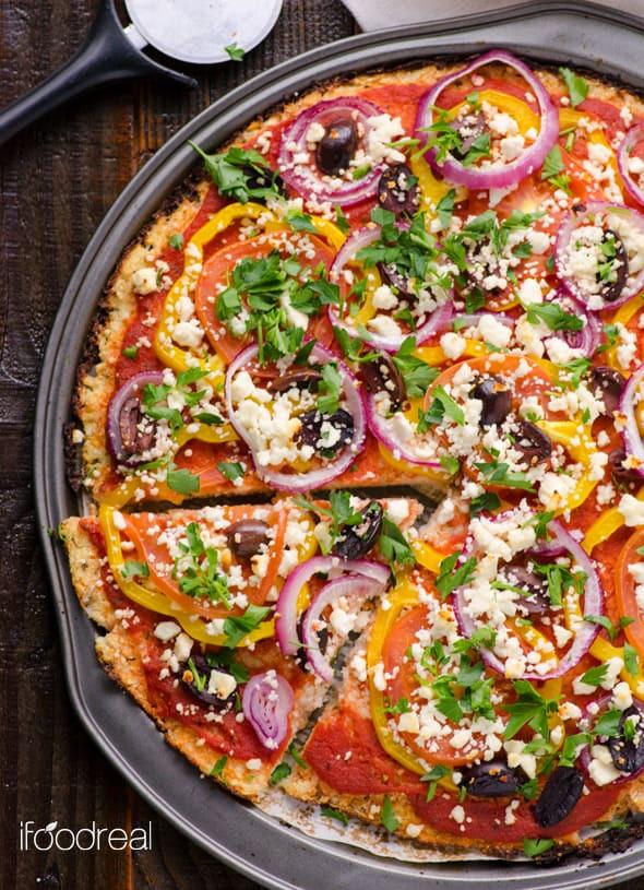 Where To Buy Cauliflower Pizza Crust  Cauliflower Pizza Crust iFOODreal Healthy Family Recipes