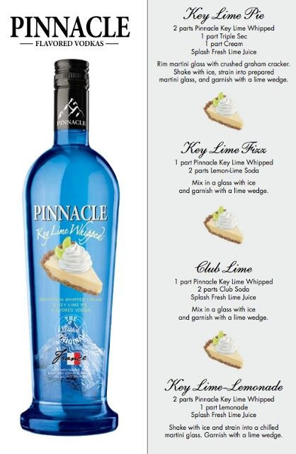 Whipped Vodka Drinks  Pinnacle Key Lime Whipped Vodka Drink Recipes