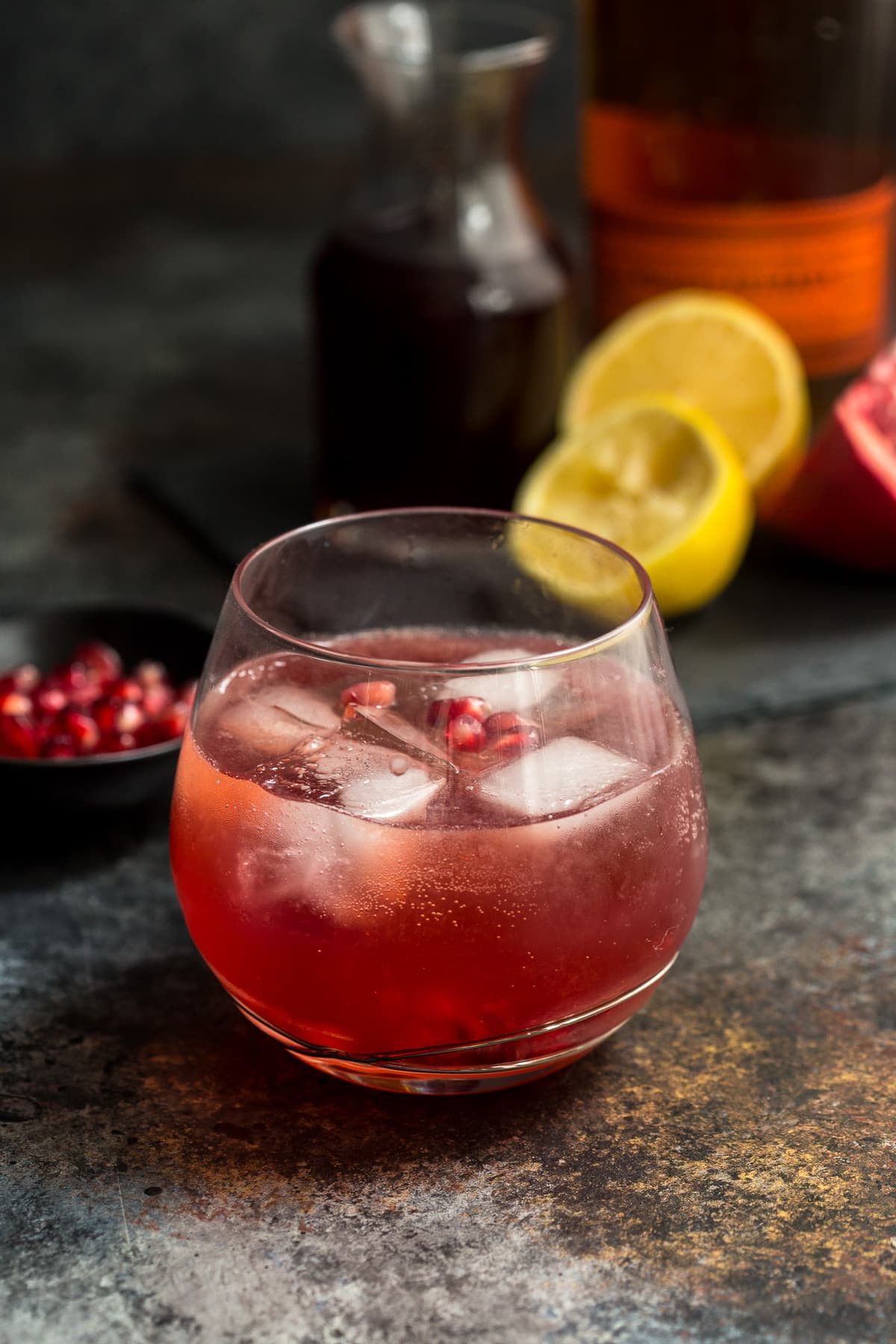 Whiskey Mixed Drinks  Pomegranate Whiskey Sour