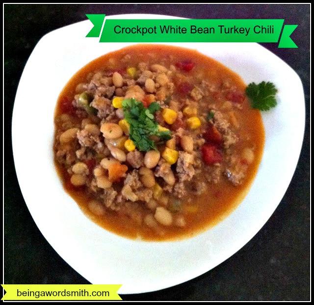 White Bean Turkey Chili  Crockpot White Bean Turkey Chili Recipe – Being A Wordsmith