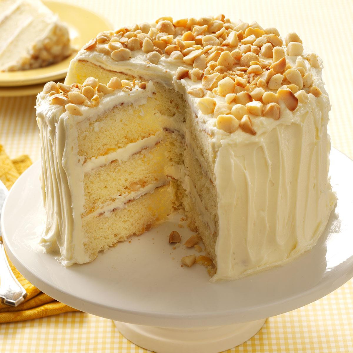 White Cake Recipes  White Chocolate Coconut Layer Cake Recipe