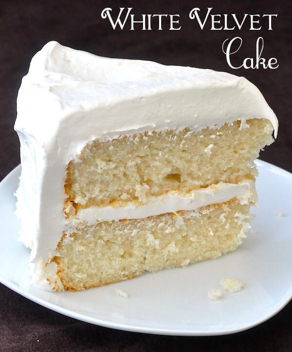 White Cake Recipes  White Velvet Cake so deliciously moist with a