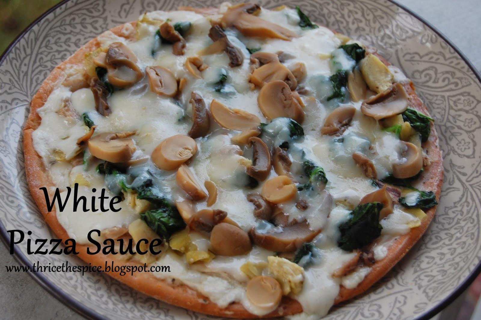 White Pizza Sauce  ThriceTheSpice White Pizza Sauce