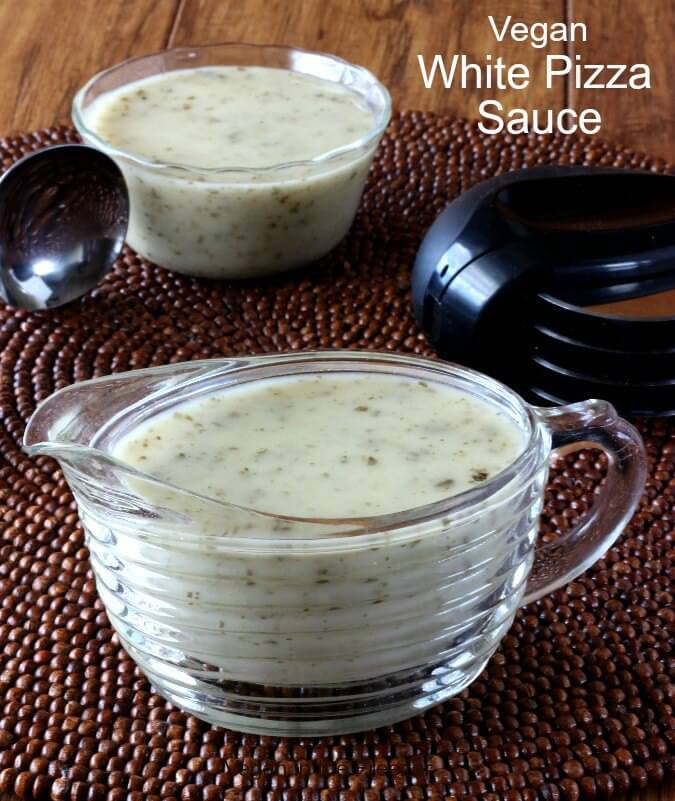 White Pizza Sauce  Vegan White Pizza Sauce Recipe