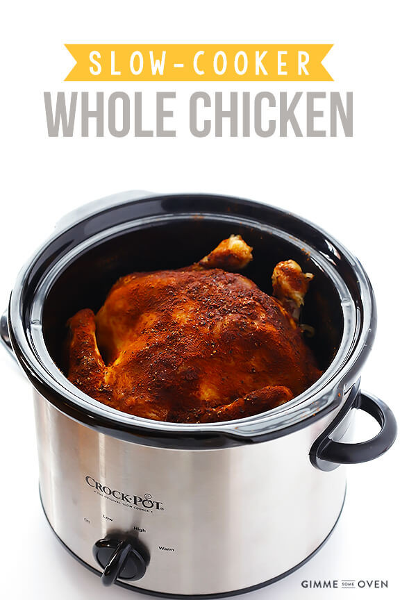 "Whole Chicken In Slow Cooker  Slow Cooker ""Rotisserie"" Chicken"