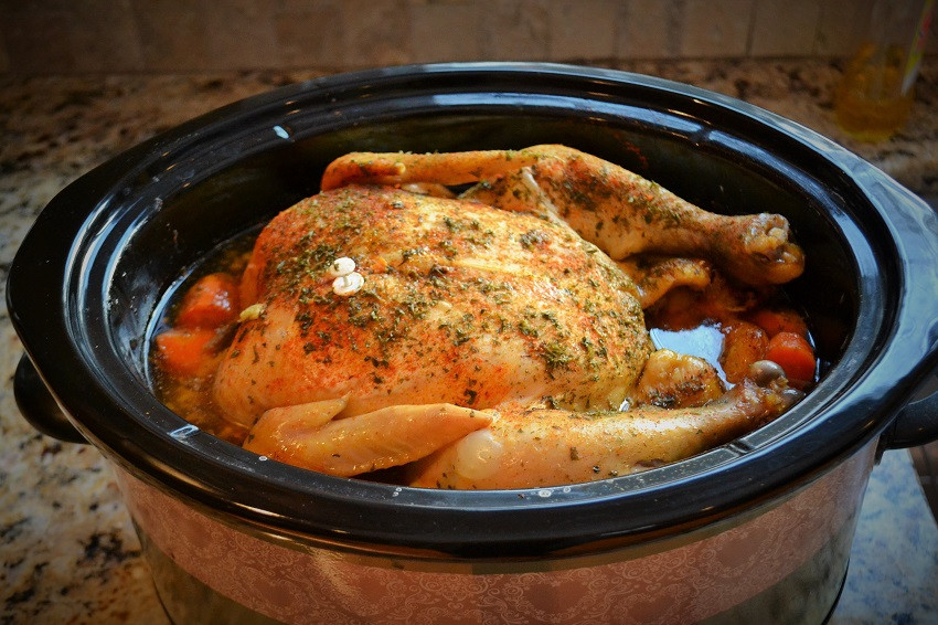 Whole Chicken In Slow Cooker  Roaster Chicken in the Slow Cooker