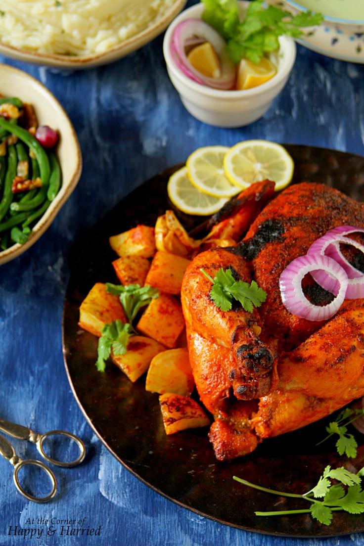 Whole Chicken Marinade  Whole Roasted Tandoori Chicken