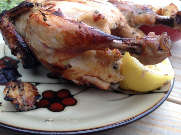 Whole Chicken Marinade  Whole chicken in pink marinade…