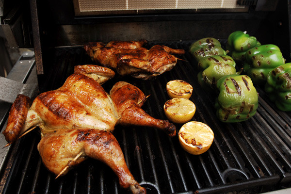 Whole Chicken Marinade  Oregano Marinated Grilled Chicken with Charred Lemons