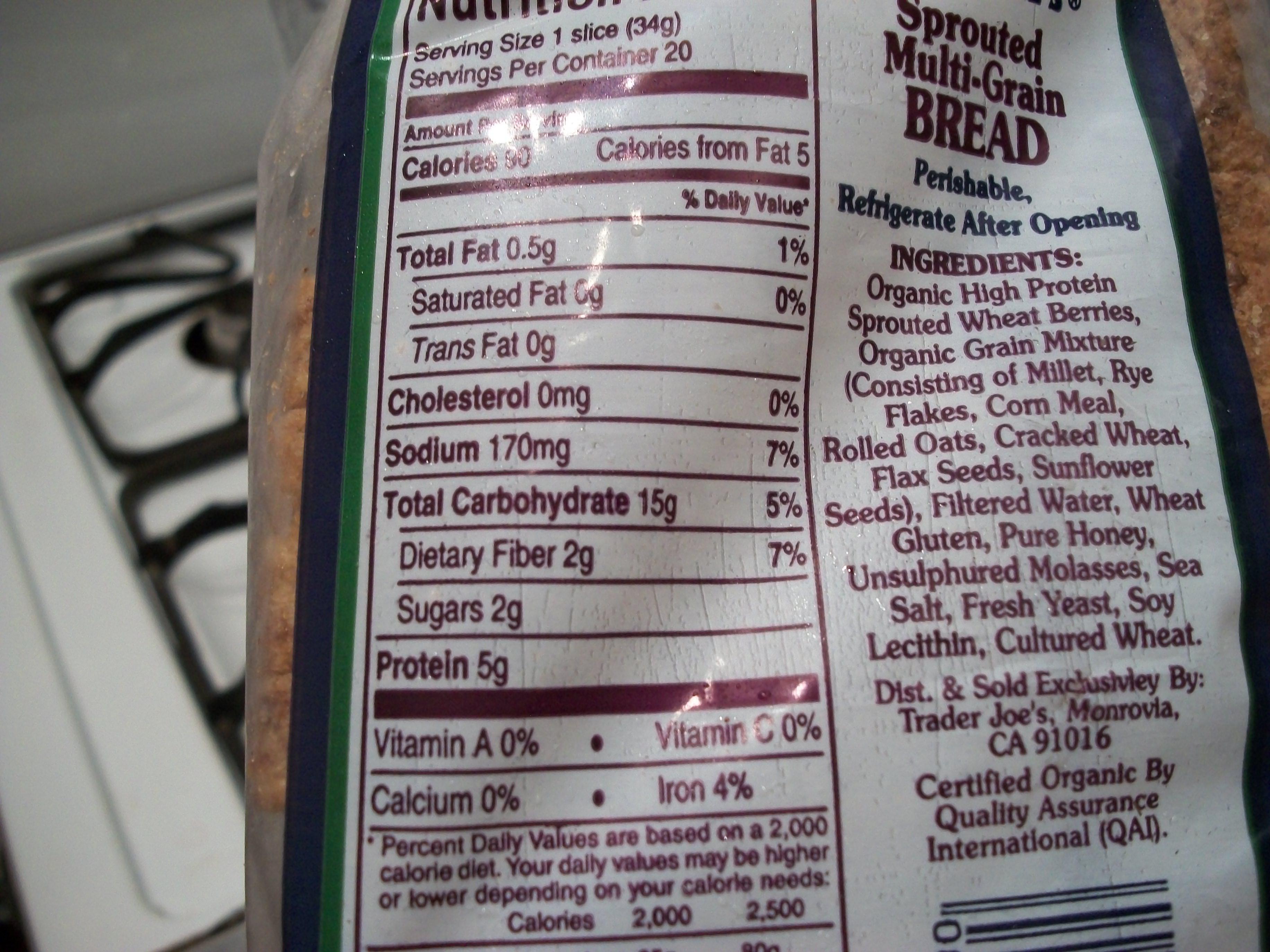 Whole Grain Bread Nutrition  11 Best s of Wonder Bread Food Label Bread