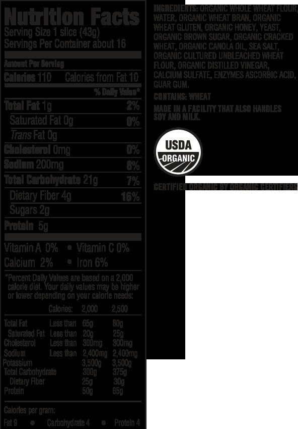 Whole Grain Bread Nutrition Facts  whole wheat bread nutrition facts 2 slices